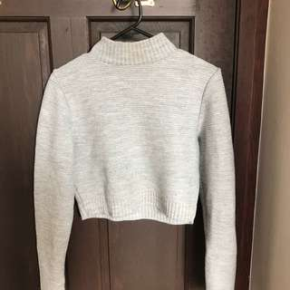 Missguided cropped ribbed turtleneck s12