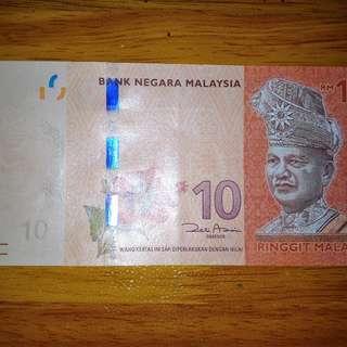 RM10 Governor Signature :- Zeti Aziz