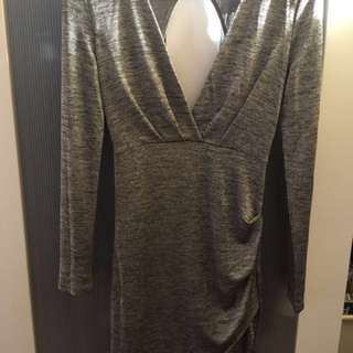 Lioness - Size S Mia Dress In Greyscale