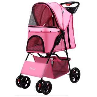 Bello Japanese 4 wheel Pet Strollers for Dogs & Cats / Pet Stroller / Dog Stroller / Cat Stroller