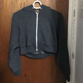 Cropped American Apparel Zip-Up