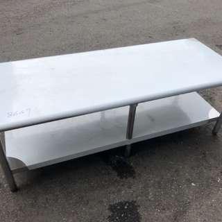 《開店秘書》全新/訂作尺寸 150*60*50公分 兩層工作台(430材質)