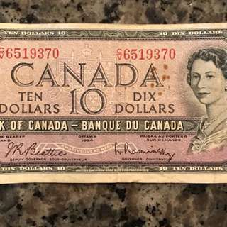 Canadian $10 bill/banknote