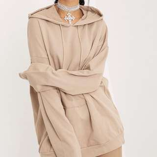 Oversized Taupe Hoodie