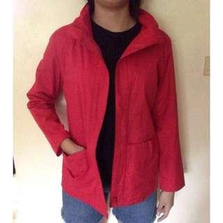 Red jacket coat parka