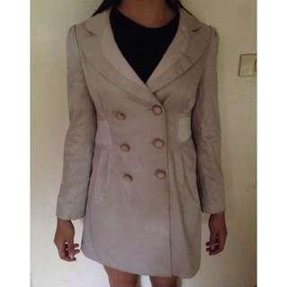 White Trench coat parka jacket