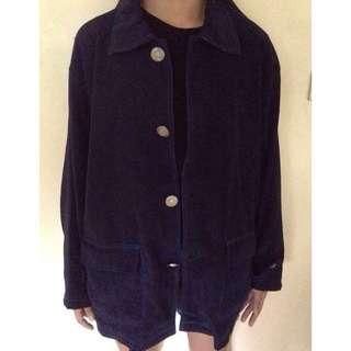 Long black jacket coat parka
