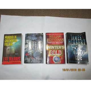 Lee Harris, James Harvey, William Heffernan, James Herbert, Paperbacks, Softbound