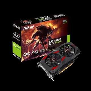 ASUS Cerberus GeForce® GTX 1050 Ti OC 4GB (CERBERUS-GTX1050TI-O4G)