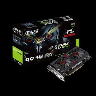 ASUS Strix GeForce® GTX 1050 Ti OC 4GB (STRIX-GTX1050TI-DC2O4G-GAMING)