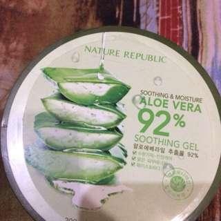 Nature republic aloevera shooting gel 92% ASLI
