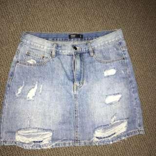 Glassons denim skirt size 10