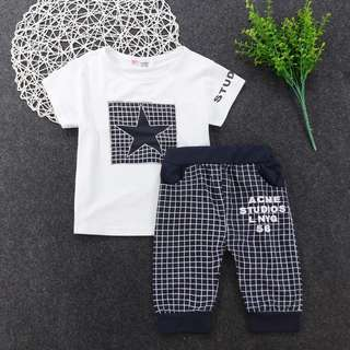 clothing set with cool design for kids