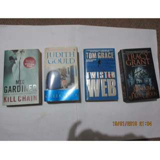 Meg Gardiner, Judith Gould, Tom Grace, Tracy Grant Paperbacks, Books, Softbound