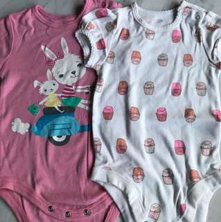 Old navy & fox Baby Girl Romper