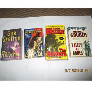 Sue Grafton, Sarah Gregory, W.E.B. Griffin, Michael Gruber, Andrew Greely Paperbacks, Books