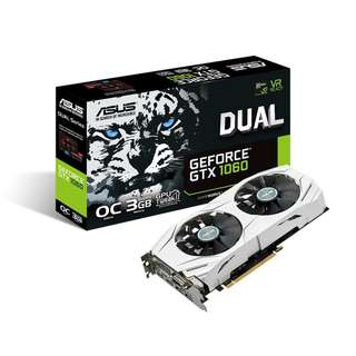 ASUS Dual series GeForce® GTX 1060 OC 3GB (DUAL-GTX1060-O3G)