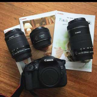 Canon EOS 700d Twin Lens Kit + 50mm Lens