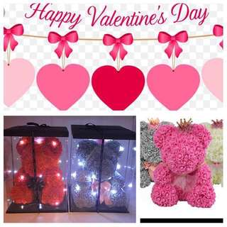 Valentine's Day Sale !  Everlasting 40cm Rose Bear  with Gift Box and LED lighting -                                      60cm Bear @$120