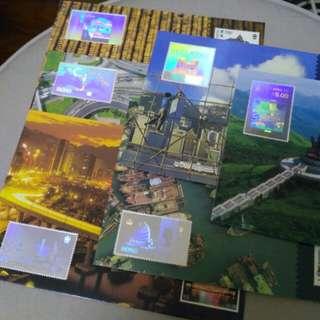 香港97郵展,第三號至八號全息圖明信片