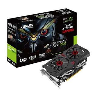 ASUS Strix GeForce® GTX 1060 OC 6GB (STRIX-GTX1060-DC2O6G)