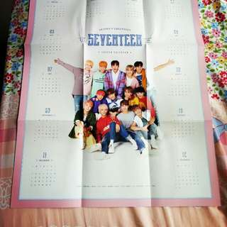 Seventeen Official Season Greeting (Wall Poster Calender)