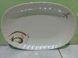 Plate with design
