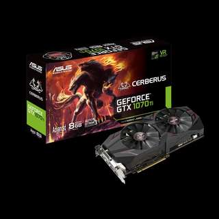 Asus ASUS Cerberus GeForce® GTX 1070 Ti  (CERBERUS-GTX1070TI-A8G)