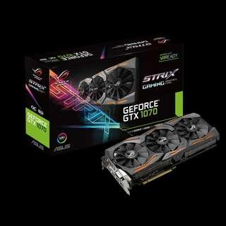 Asus ROG Strix GeForce® GTX 1070 OC (STRIX-GTX1070-O8G-GAMING)
