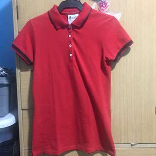 red polo with lace