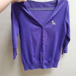 Cardigan ungu