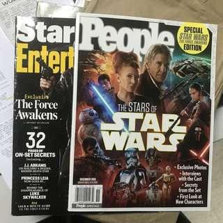 star wars magazine lot - people + entertainment weekly