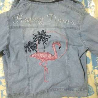 Jacket jeans flamingo