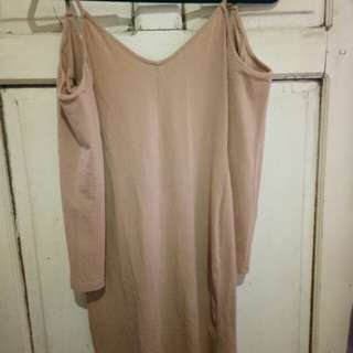 H&M nude dress small