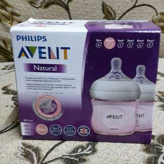 Avent Natural Bottle 4oz/124ml Twinpack