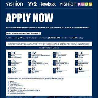Yishion Retail specialists and store managers