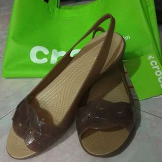 Authentic Crocs Isabella Slingback (Brown)