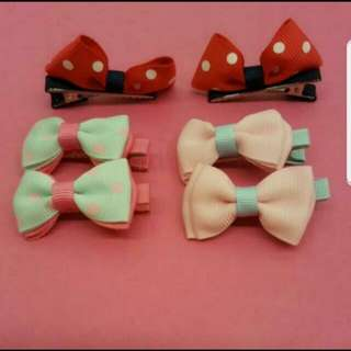 (pair)Children Ribbon Hair Clip