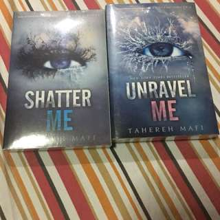 Shatter Me Series (Book 1 and 2)