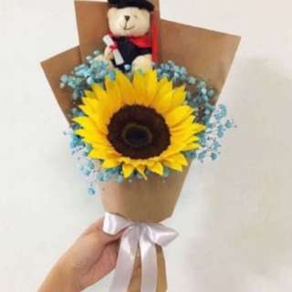 Sunflower Bouquet with Baby Breath