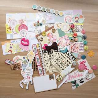 Scrapbook stickers and embellishments