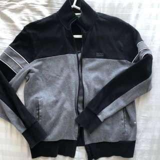 BOSS Green black zip up
