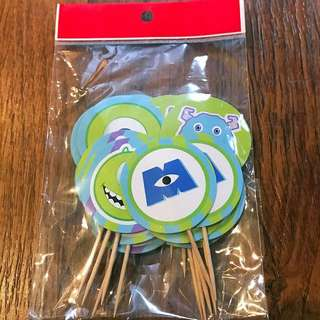 """30pcs """"Monsters Inc"""" theme cupcake toppers"""