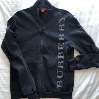 Burberry black zip up