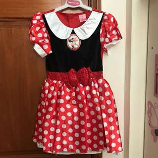 Minnie Mouse Costume for 4-6yrs