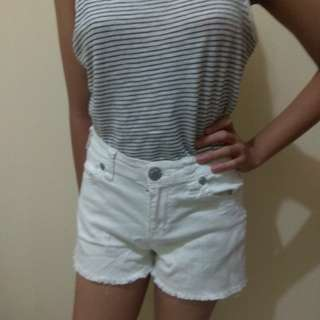 Hot pants Celana Pendek Hotpants Short Branded Murah Nine West Putih Ripped Casual