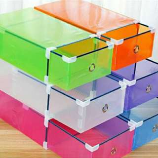 Colored Shoe Box Organizer