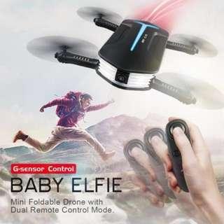 🌸 [SALE] JJRC H37 JJR/C Mini Baby Elfie Selfie 720P WIFI FPV w/ Altitude Hold Headless Mode G-sensor RC Drone Quadcopter Helicopter RTF