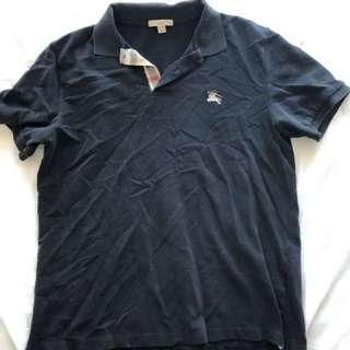 Burberry black polo
