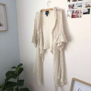 White Crochet Throw